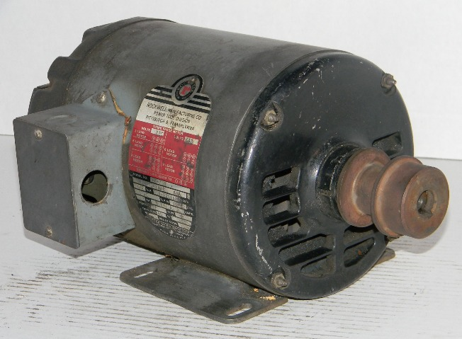 Rockwell 3 4 Hp Three Phase Electric Motor Norman