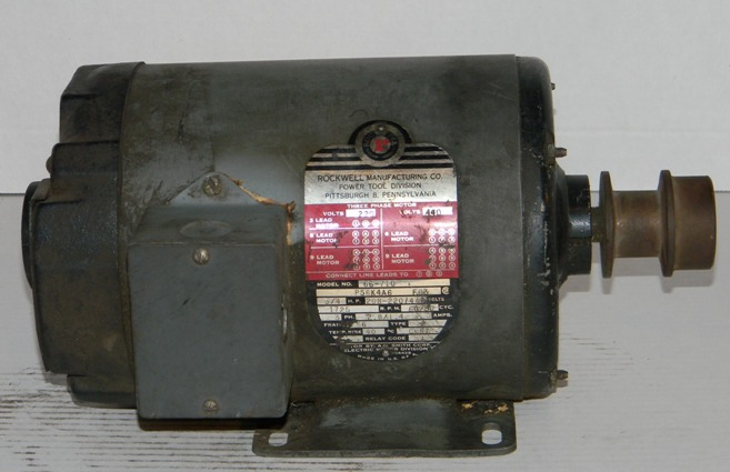 Rockwell 3 4 Hp Three Phase Electric Motor