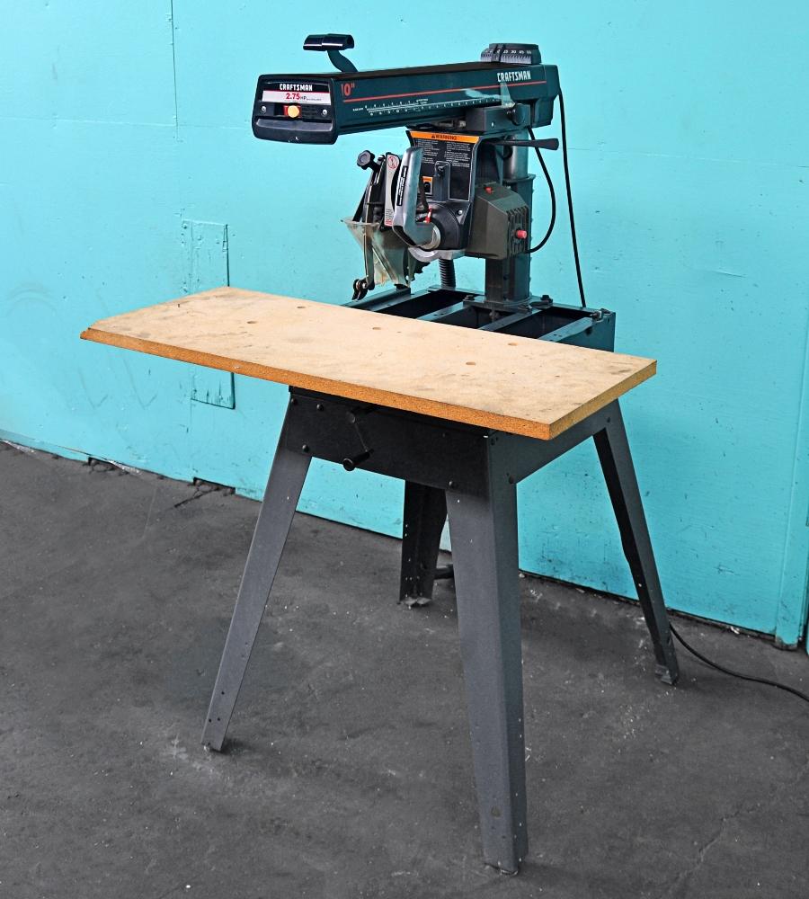 craftsman 10 radial arm saw norman machine tool