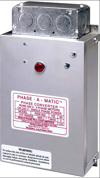 Phase-A-Matic PAM-200HD Static Phase Converter, 3/4 – 1 1/2 HP