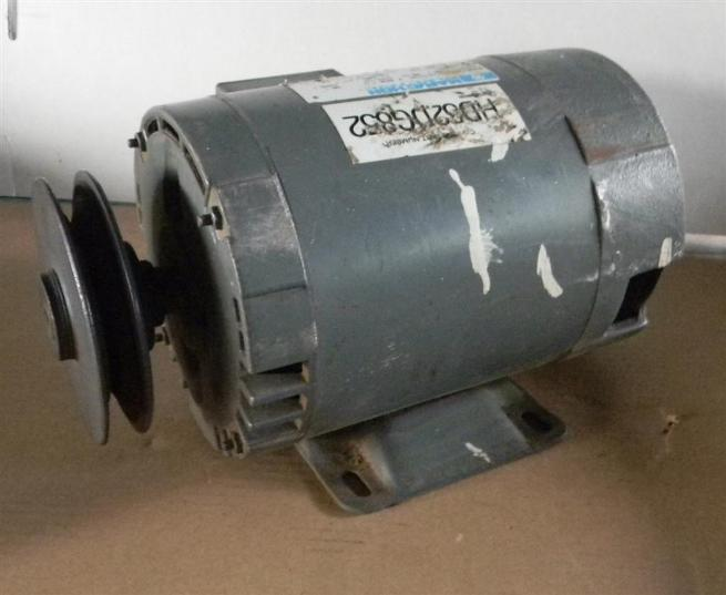 Marathon 1 HP 3 Phase Motor With Browning Variable Speed Pulley