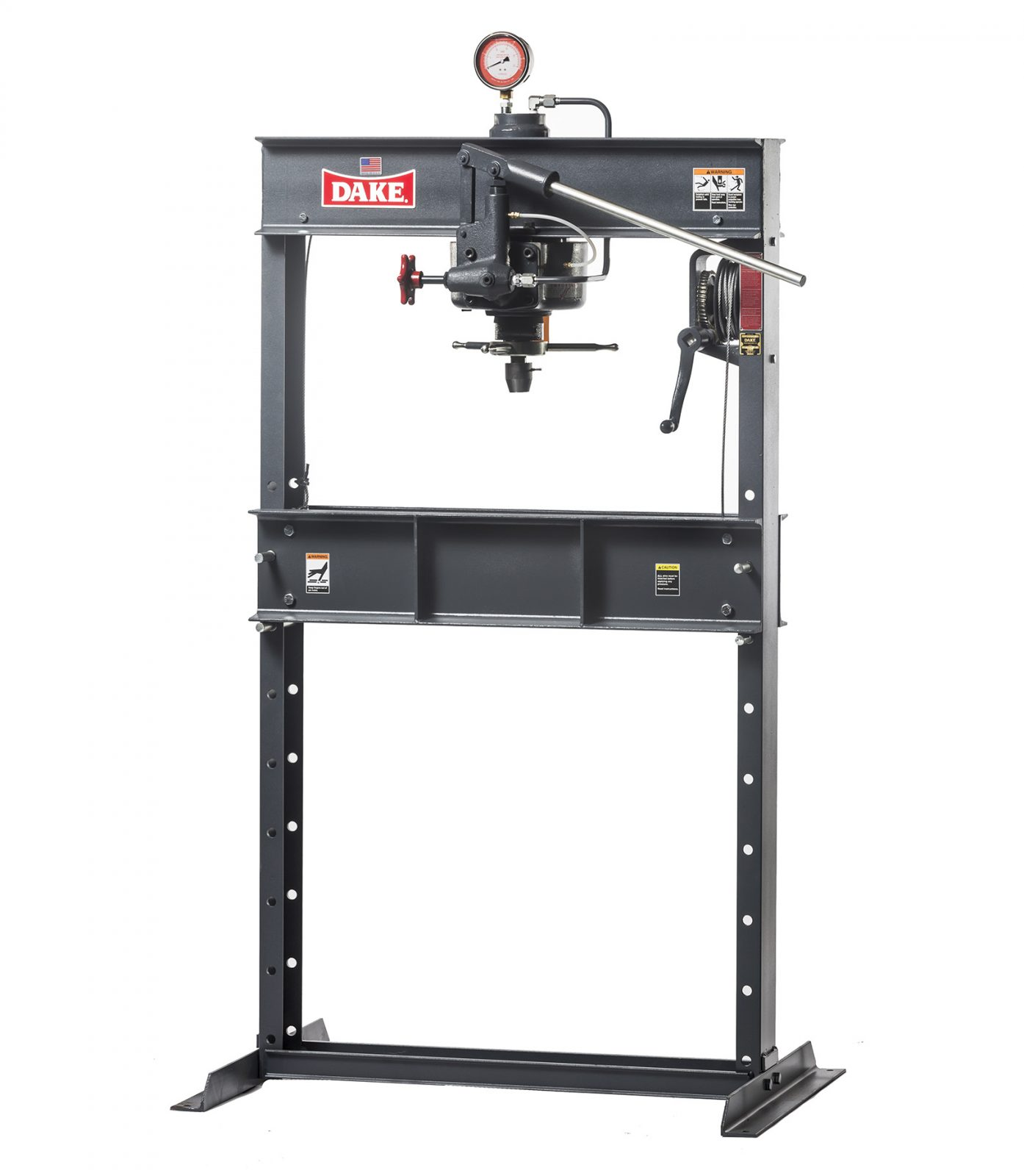 Dake 75 Ton Hand Operated Hydraulic H-Frame Press, 75H - Norman ...
