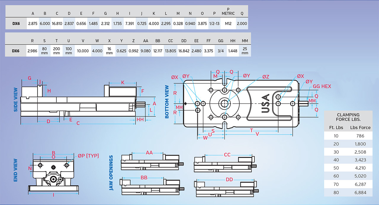 Kurt Dx6 6 Crossover Precision Machine Vise Norman Tool Wilton Parts Diagram