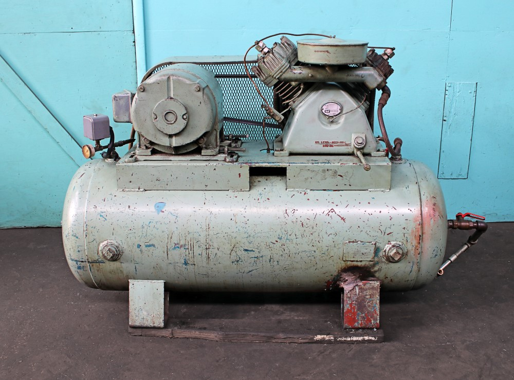 John Wood Co  15 HP Horizontal Air Compressor