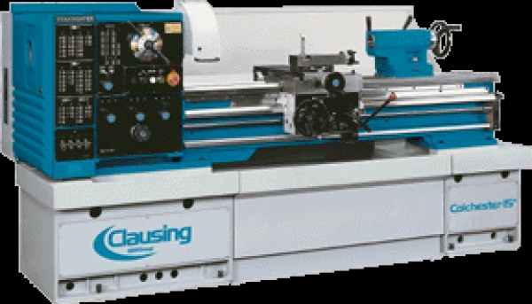 Clausing Colchester 15″ x 50″ Geared Head Gap Bed Lathe, 8043
