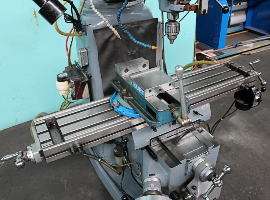 Clausing Kondia 9″ x 48″ Vertical Milling Machine with X, Y, Z-Axis  Powerfeeds, FV-1