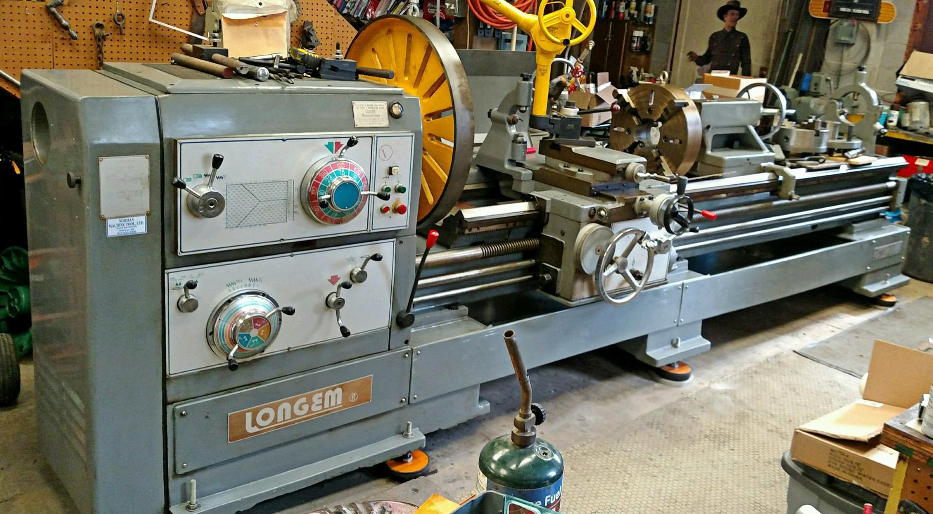 Lathe For Sale >> Longem 26 X 120 Universal Heavy Duty Gap Bed Lathe Lg26120c Sale Pending