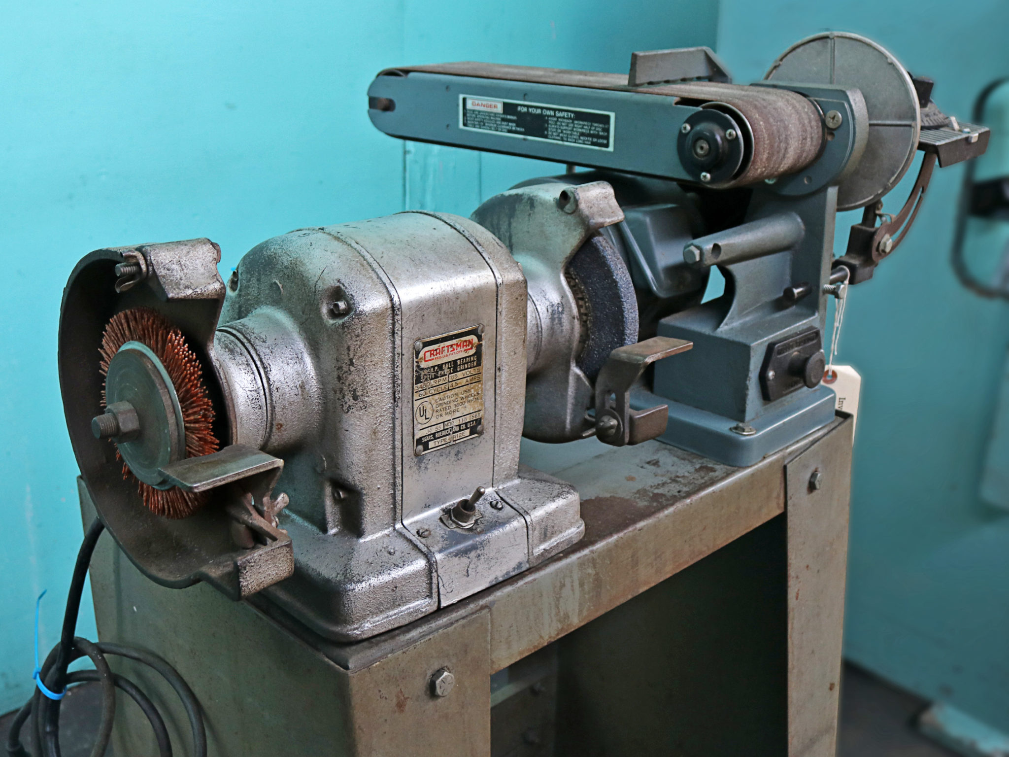 Groovy Enco Belt Disc Sander And Craftsman Buffer Grinder Caraccident5 Cool Chair Designs And Ideas Caraccident5Info